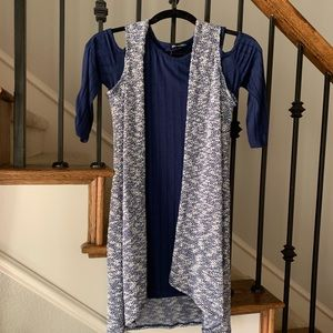 Other - Girl size 12 sequin hearts cold shoulder dress NWT